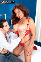 A greater than standard butted Latin chick with big tits and dick-sucking lips