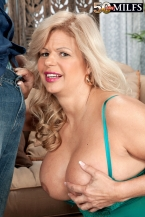 Big bra-busters, pierced cookie, anal and a creampie, also!