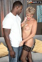 Tracy Licks black jock at the nudist resort