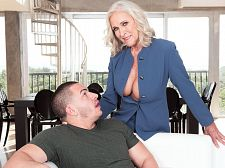 Busty 60Plus realtor Katia bonks 23-year-old client
