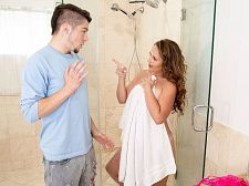Brandii takes a shower with her son's finest friend